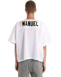 Fear Of God T-Shirt Imprimé En Résille - Blanc