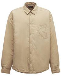 Balenciaga パデッドシャツジャケット - ナチュラル