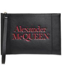 """Alexander McQueen Кожаный Клатч """"signature"""" С Логотипом - Черный"""