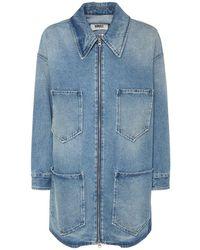 MM6 by Maison Martin Margiela Oversize Cotton Denim Jacket - Blue