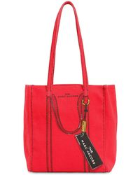 Marc Jacobs 'The Trompe L'Oeil Tag' Shopper - Rot