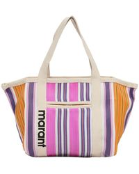 Isabel Marant Darwen Nylon Tote Bag - Purple