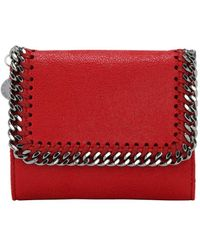 Stella McCartney Falabella Shaggy Faux Leather Wallet - Красный