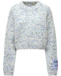 McQ Foam ウールブレンドニットセーター - ブルー