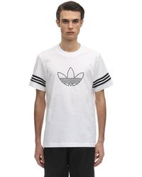 adidas Originals コットンジャージーtシャツ - ホワイト