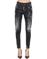 """DSquared² - Enge Jeans Aus Denim """"dan"""" - Lyst"""