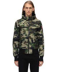 """Canada Goose Piumino """"cabri"""" Camouflage Con Cappuccio - Verde"""