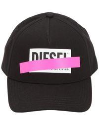 142b7fcd539ae DIESEL Jacquard Beanie Hat in Black for Men - Lyst