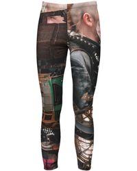 Comme des Garçons Inkjet Print Jersey leggings - Multicolour