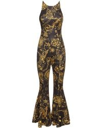 Versace Jeans Couture Printed Stretch Jersey Jumpsuit - Multicolour