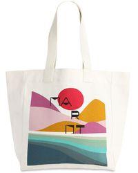 Isabel Marant Printed Cotton Tote Bag - Multicolor