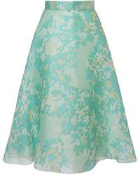 Emilio Pucci シルクオーガンジースカート - ブルー