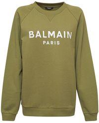 Balmain コットンスウェットシャツ - グリーン