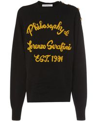 Philosophy Di Lorenzo Serafini ウールセーター - ブラック