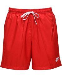 """Nike Short De Bain En Nylon """"Nsw"""" - Rouge"""