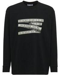 JW Anderson Oscar Wilde ジャージー長袖tシャツ - ブラック