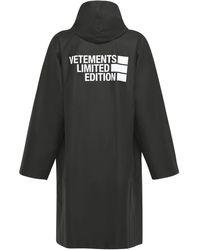 Vetements Big Logo Limited Edition レインコート - ブラック