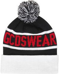 Gcds - Logo Jacquard Knit Beanie W/ Pompom - Lyst