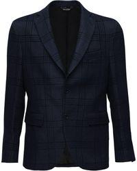 LC23 Linen Blend Single Breasted Blazer - Blue