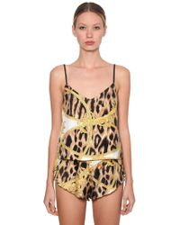 Versace - Printed Pajama Tank Top - Lyst