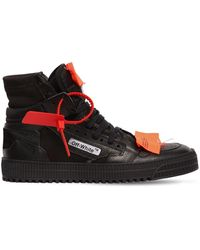 Off-White c/o Virgil Abloh - Low 3.0 Leather High Top Sneakers - Lyst