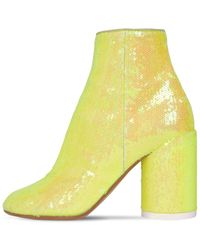 MM6 by Maison Martin Margiela Sequin-embellished Ankle Boots - Yellow