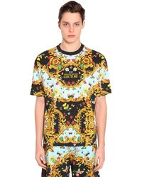 Versace Jeans - オーバーサイズ コットンジャージーtシャツ - Lyst