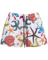 Versace Шорты Из Нейлона С Принтом - Многоцветный