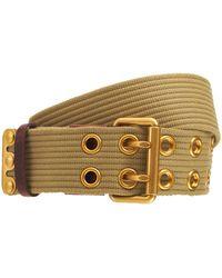DSquared² ミリタリーテープベルト 5.5cm - ナチュラル