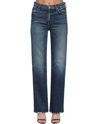Mother The Kick It Wide Leg Denim Jeans - Blue