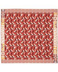 Loro Piana Шёлковый Платок С Принтом - Красный
