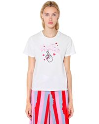 Vivetta   Fingers Crossed Cotton Jersey T-shirt   Lyst