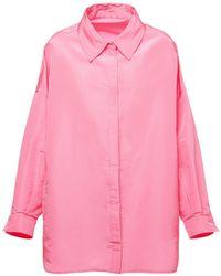 Valentino Рубашка Из Шелка - Розовый