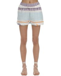 Cecilie Copenhagen Shortis Embroidered Cotton Shorts - Mehrfarbig