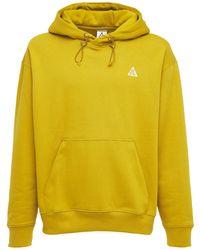 Nike Hoodie Aus Baumwollmischung - Gelb
