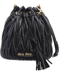 Miu Miu   Quilted Leather Bucket Bag   Lyst