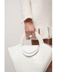 Bottega Veneta Ring Mit Kristallen - Weiß