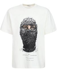 ih nom uh nit Black Mask コットンtシャツ - ホワイト