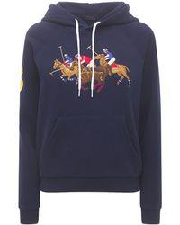 Polo Ralph Lauren Свитшот С Капюшоном - Синий