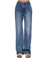 Loewe Hochtaillierte Jeans Aus Baumwolldenim - Blau
