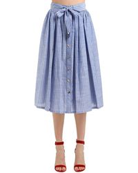 Stella Jean Gonna In Cotone - Blu