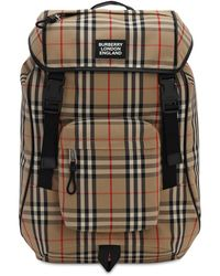 Burberry Logo Detail Vintage Check Backpack - Multicolour