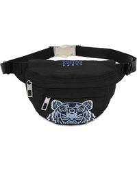 KENZO Mini Tiger Embroidered Belt Bag - Black