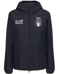 EA7 Italian Olympic Team レインジャケット - ブルー