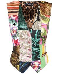 Dolce & Gabbana Patchwork ブロケードジャカードベスト - マルチカラー