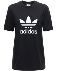 adidas Originals 3-stripes コットンtシャツ - ブラック