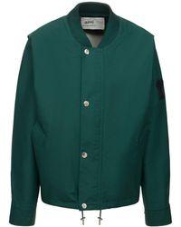 AMI ナイロンキャンバスボンバージャケット - グリーン