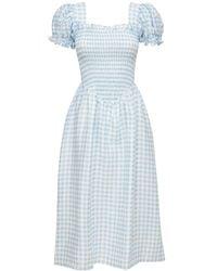 Sleeper Льняное Платье Belle - Синий