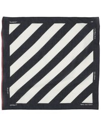 Off-White c/o Virgil Abloh Diagonal Stripe Cotton Blend Bandana - Black