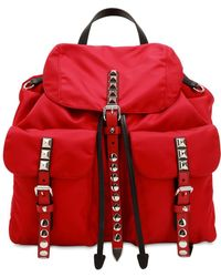 Prada - Nylon Canvas Backpack - Lyst